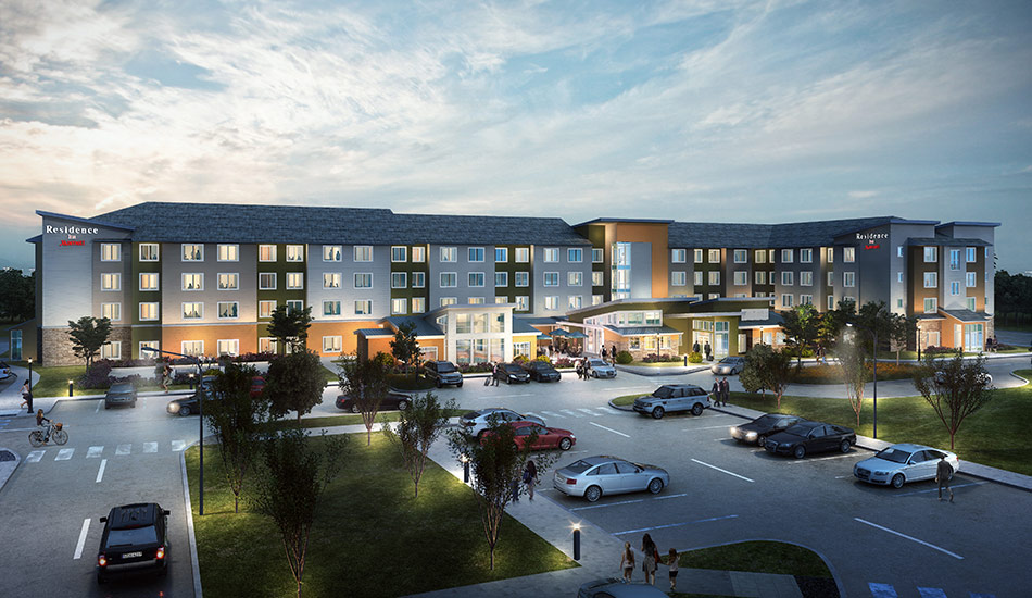 Exterior Rendering of a Hotel by United-BIM