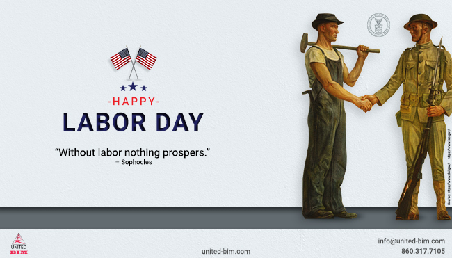 Happy Labor Day 2020 - Graphic by United-BIM