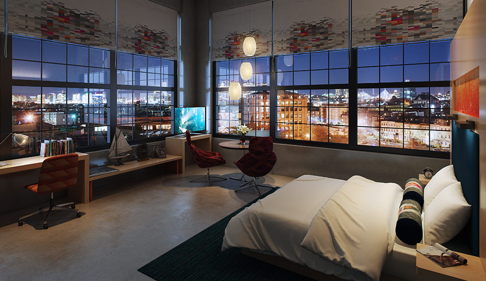 Interior Rendering of a Hotel Room by United-BIM