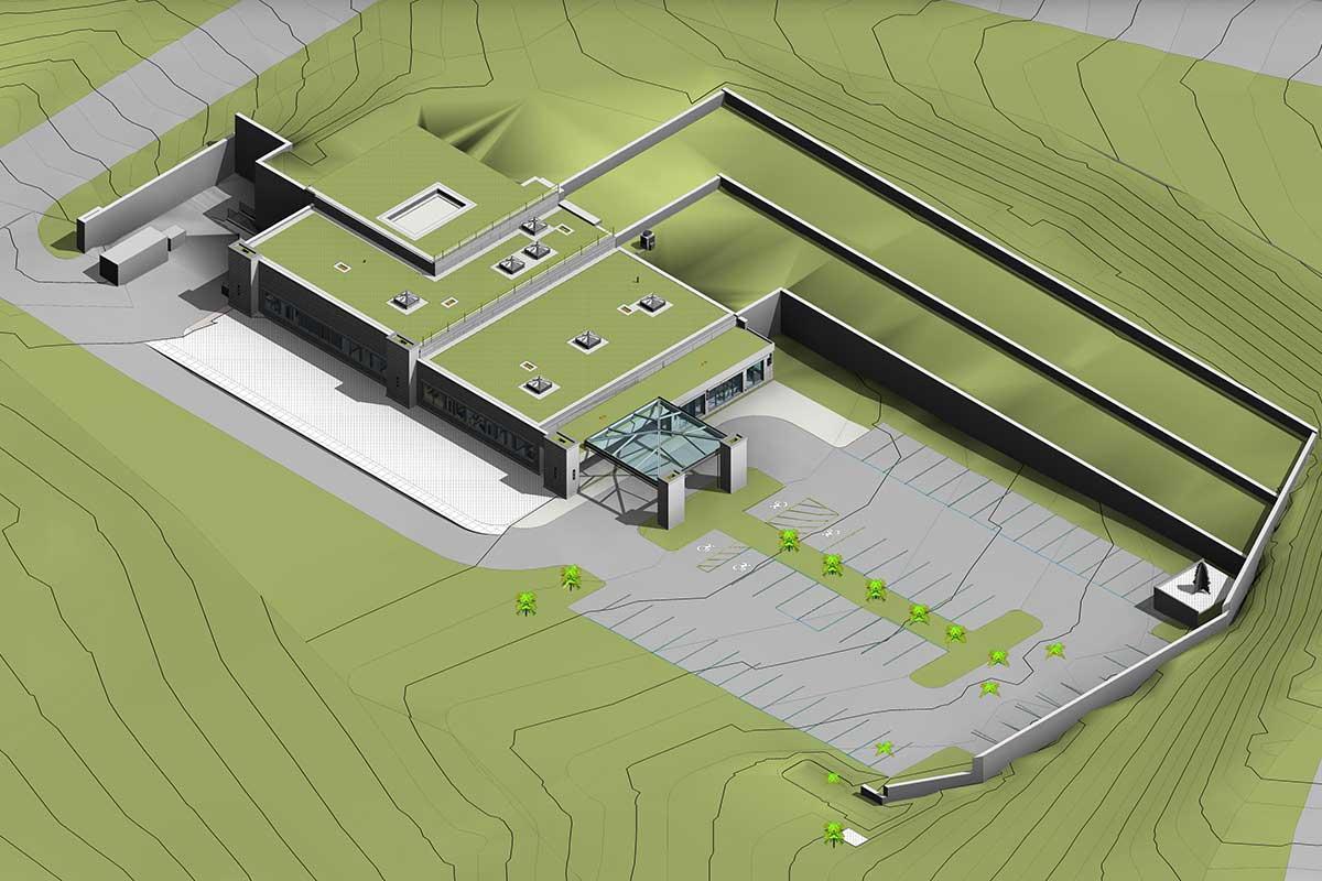 Architectural-Model-of-Proton-Therapy-Healthcare-Facility-by-United-BIM