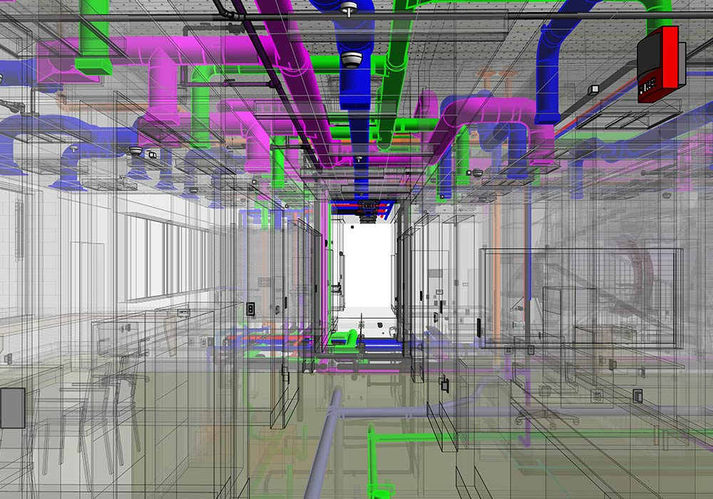 MEPFP-LOD 400-BIM-Modeling-and-Coordination-Services-in-Massachusetts-for-a Heathcare Facility-by-United-BIM