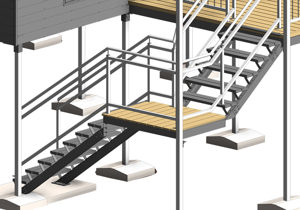 Staircase Modeling for Mult-Residential Project by United-BIM