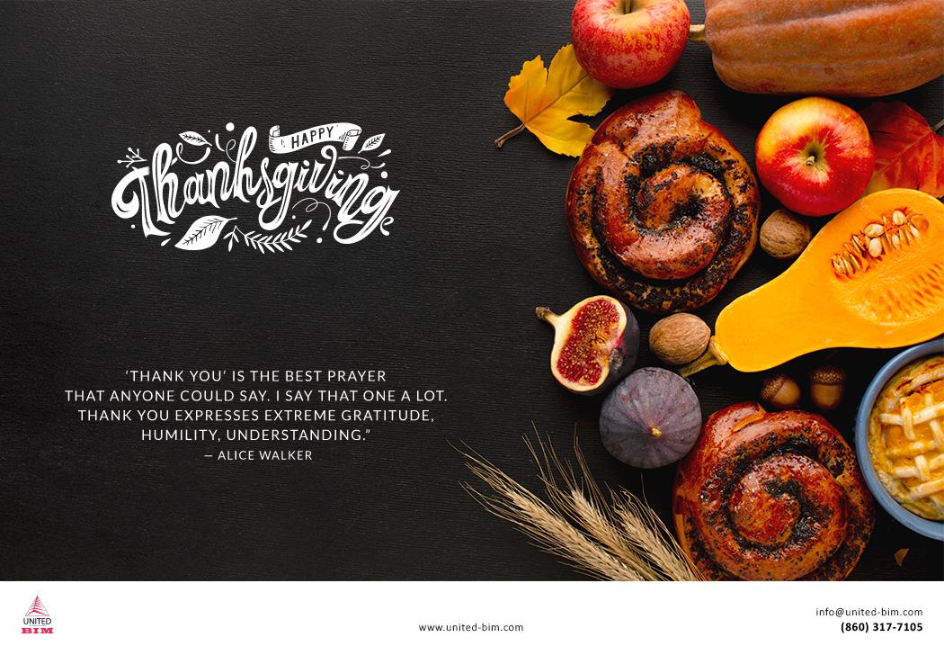 Happy Thanksgiving 2020 Graphic by United-BIM