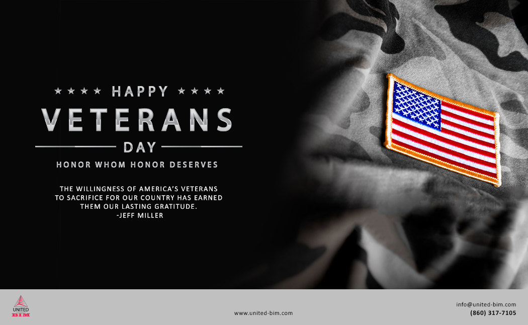 Happy Veterans Day 2020 Graphic by United-BIM