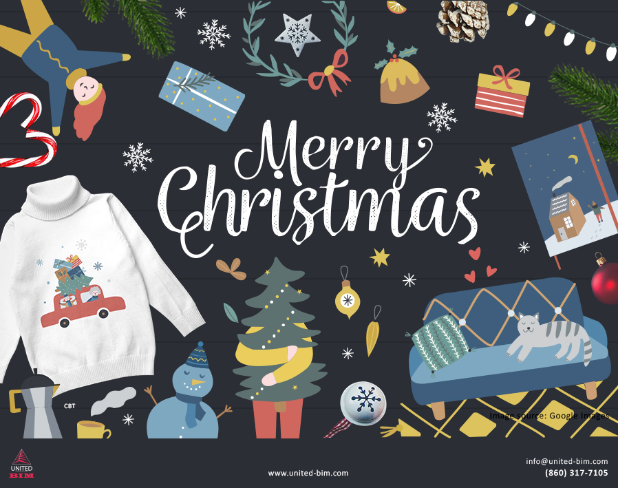 Merry Christmas 2020 Graphic by United-BIM