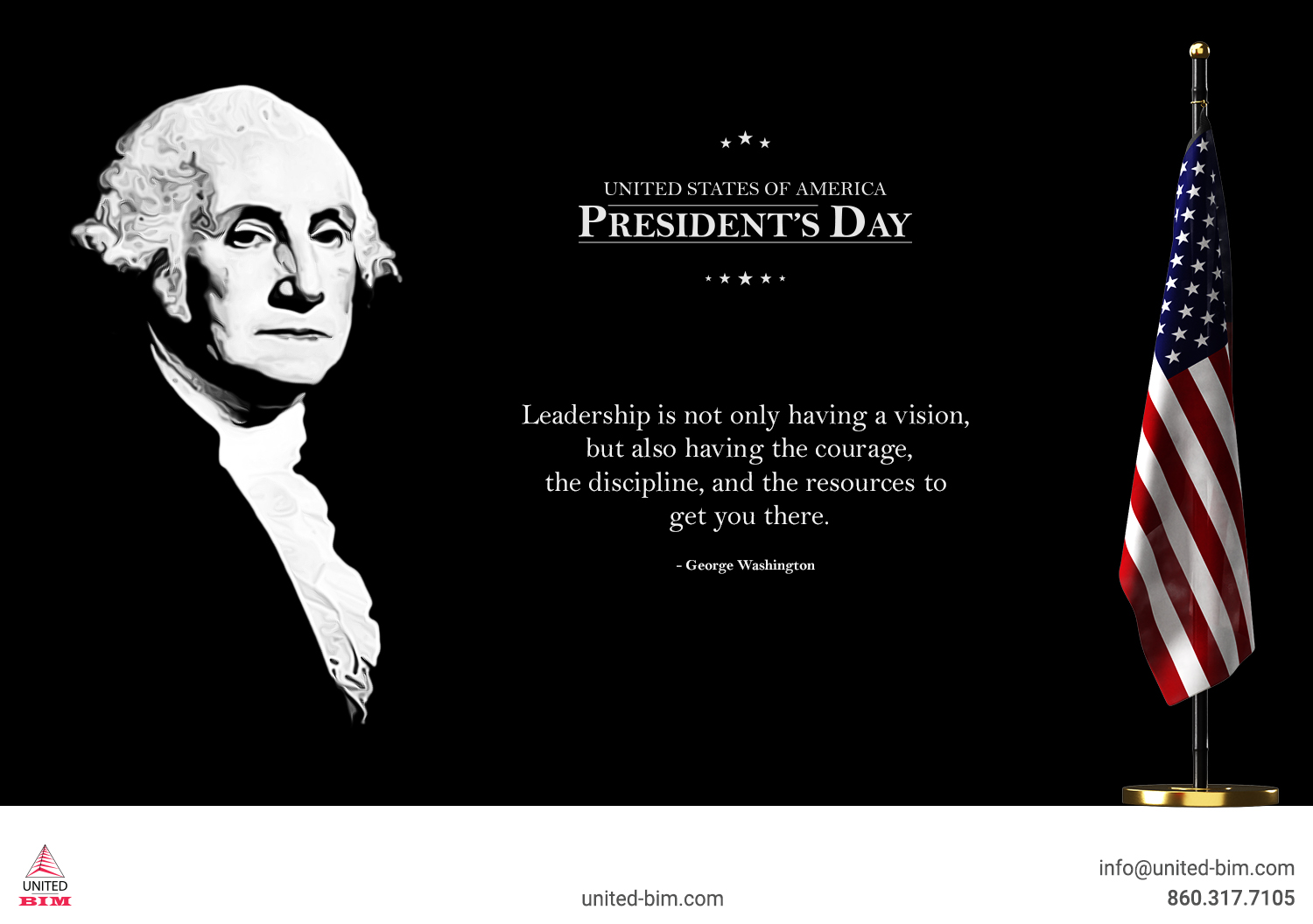 Happy President's Day 2021 Graphic by United-BIM