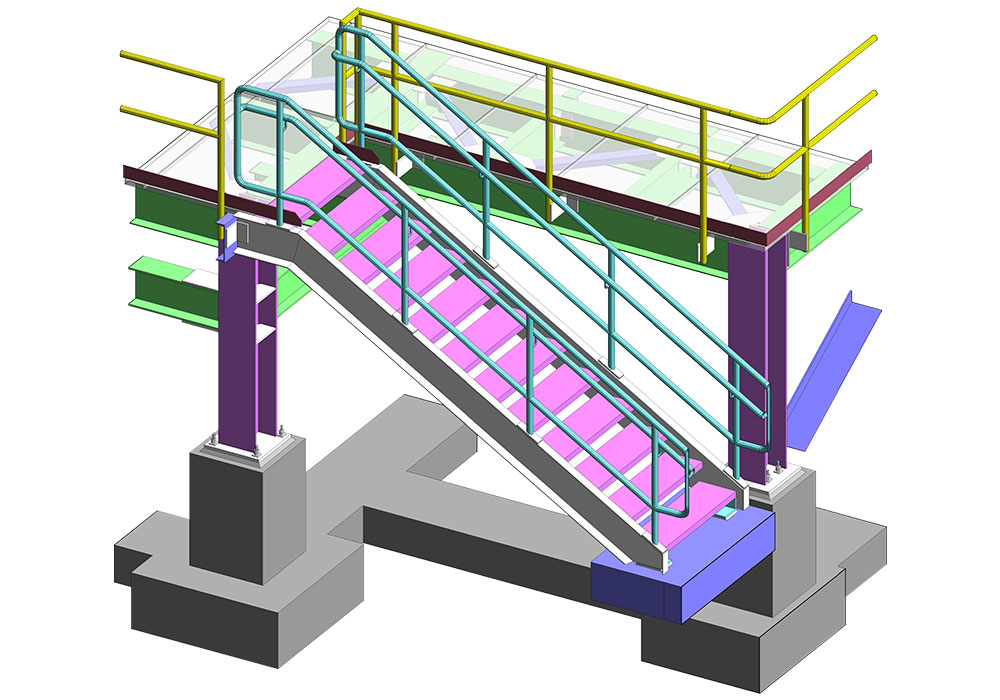 Stair Tread & Grating of the Project by United-BIM