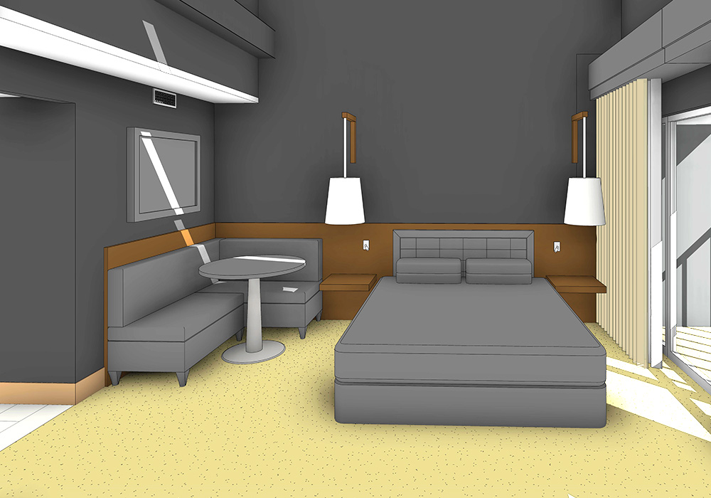 3D Modeling of Room for a Hotel