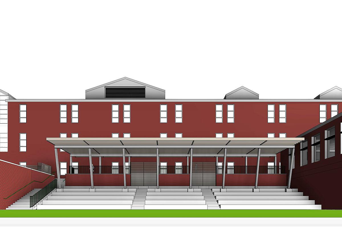 Middle School Project BIM Model by United-BIM