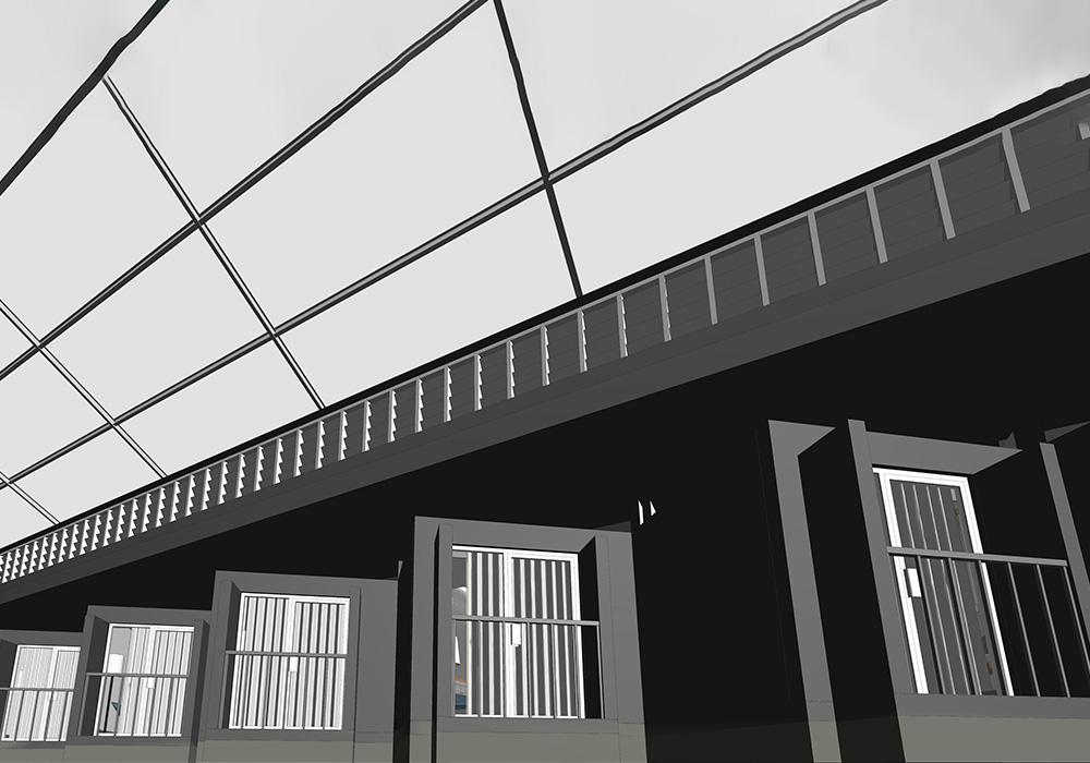 Interior View Developed from Point Cloud Scan Data
