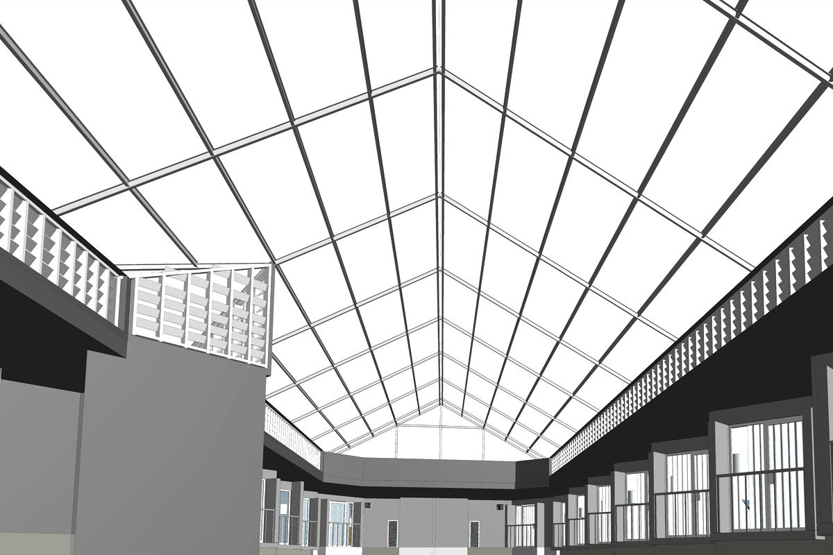 Interior View from Point Cloud Scan Data