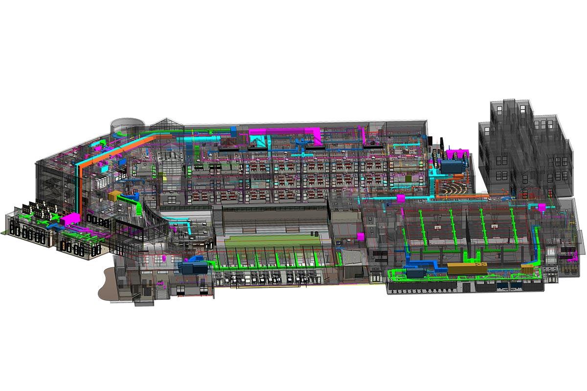 MEPFP BIM Model of a Middle School Project by United-BIM