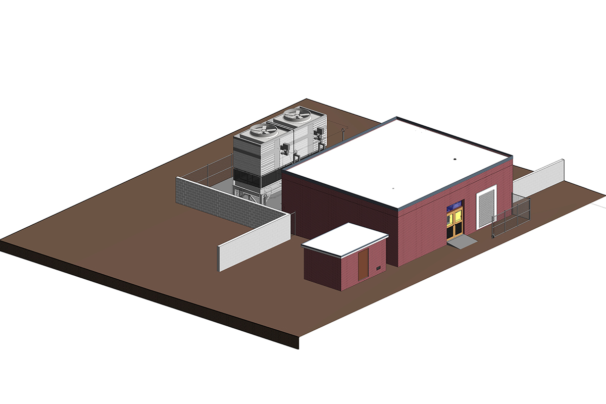 Section View of a Mechanical Room of a School Project by United-BIM
