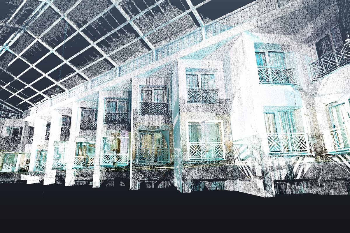 Point Cloud Scan Data of a Hotel