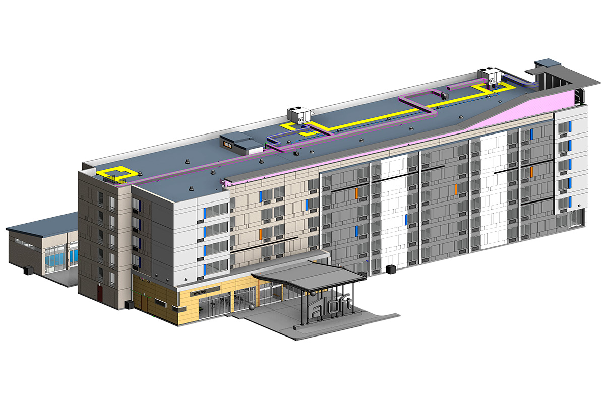Architectural-BIM-Services-in California-for-Hotel Project by-United-BIM