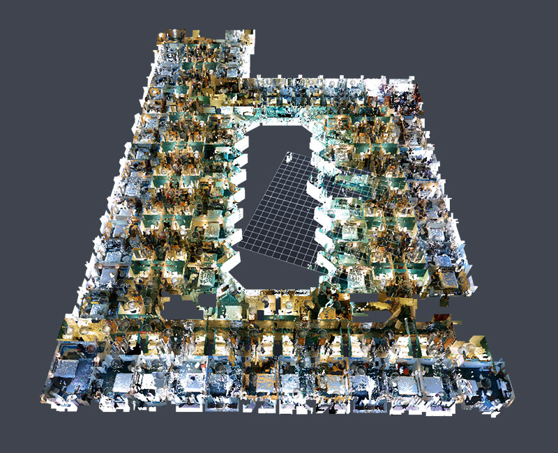 Point Cloud Scan of a Hotel Project