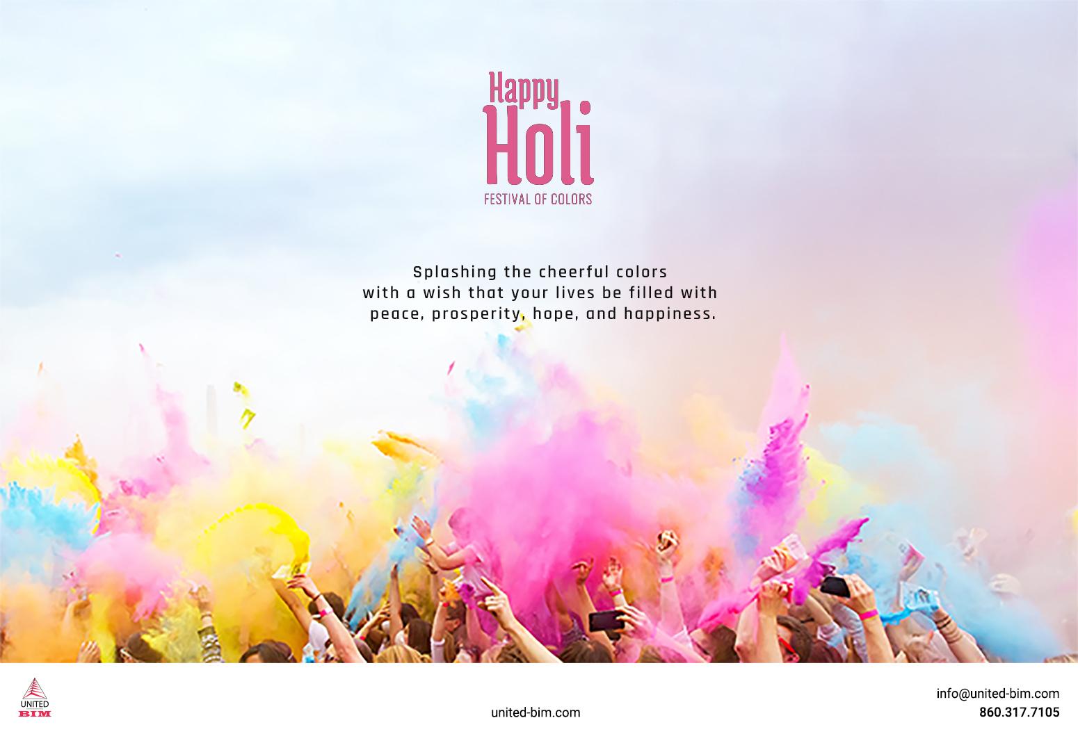 Happy Holi 2021 Graphic by United-BIM