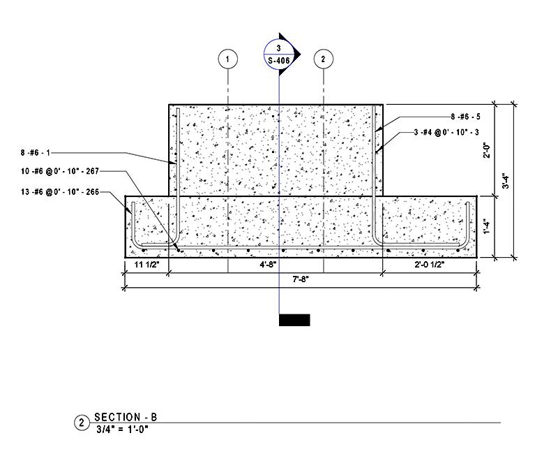 Pier Concrete Plan (Section-B)