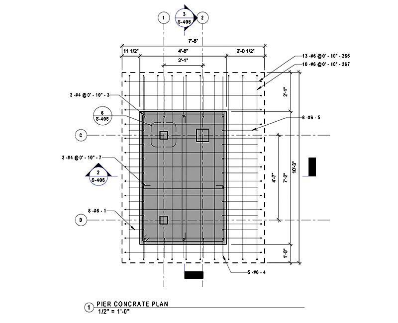 Pier Concrete Plan
