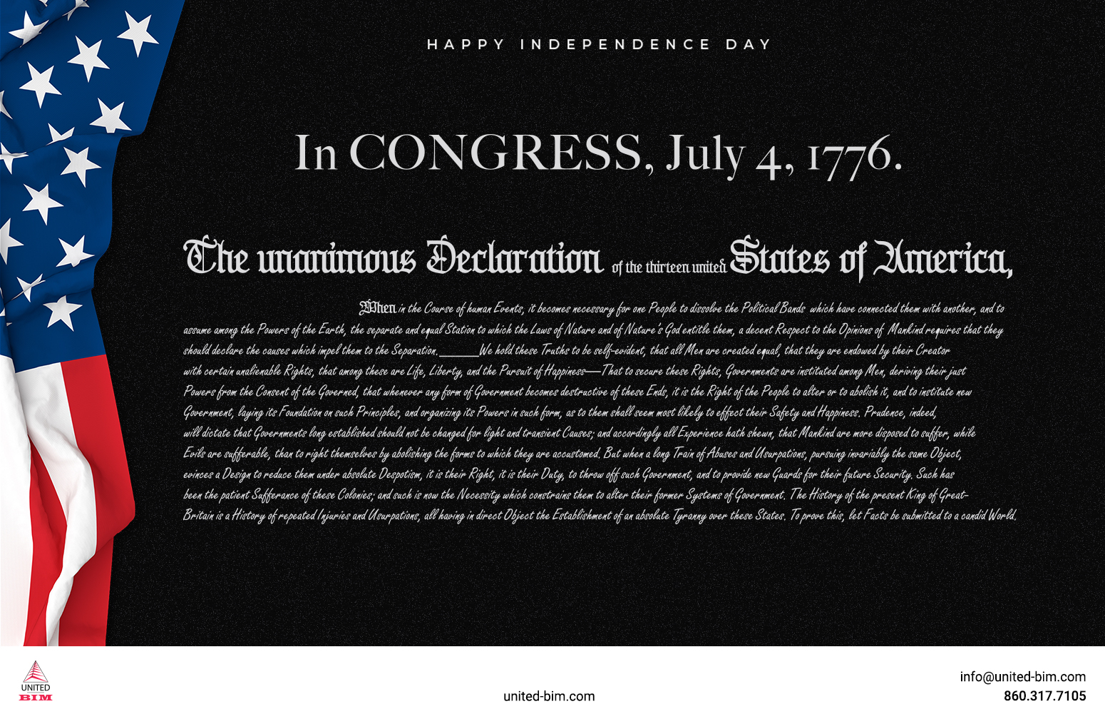 4th of July 2021-Graphic by United-BIM