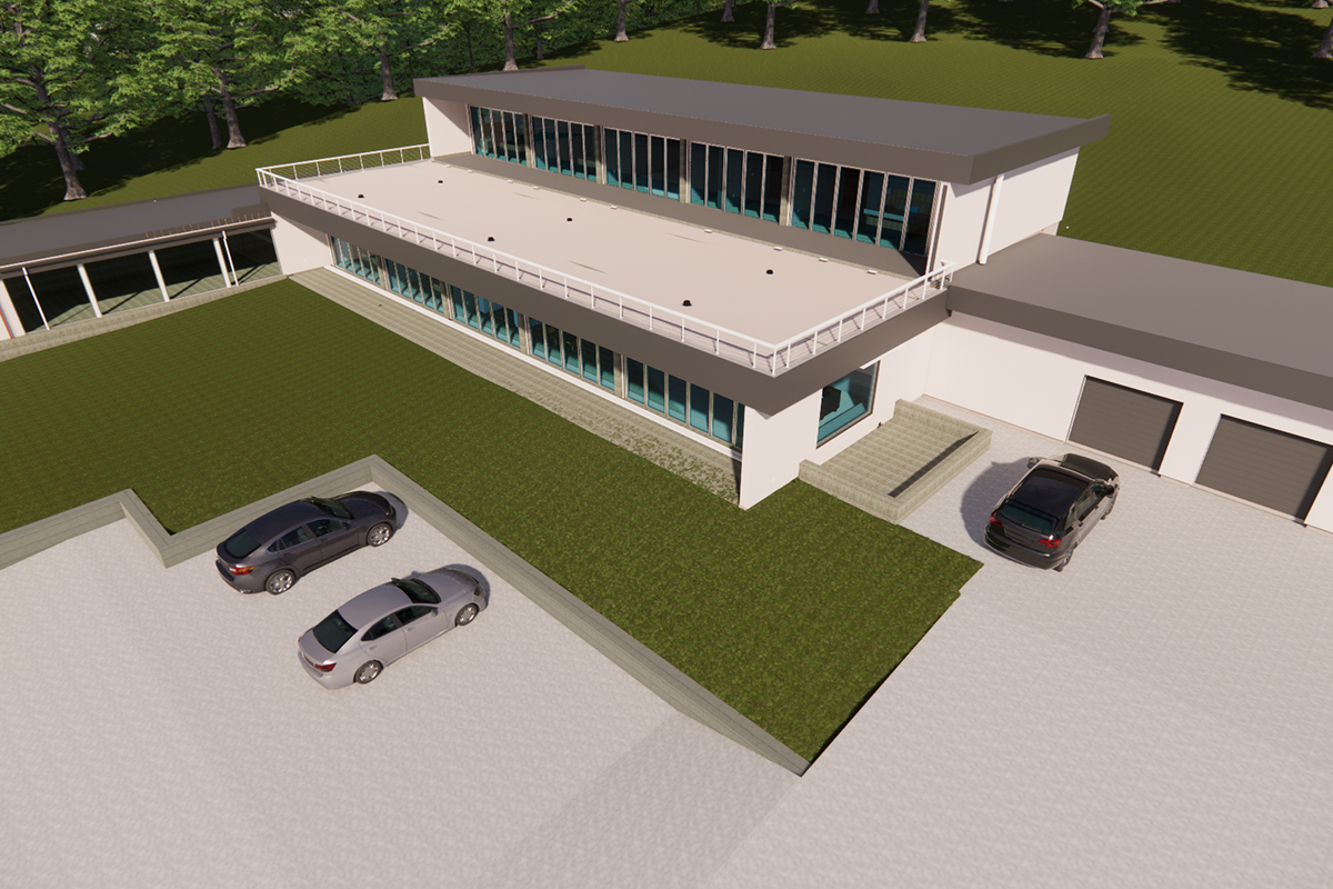 BIM Architectural Modeling of Luxurious Residence in Connecticut