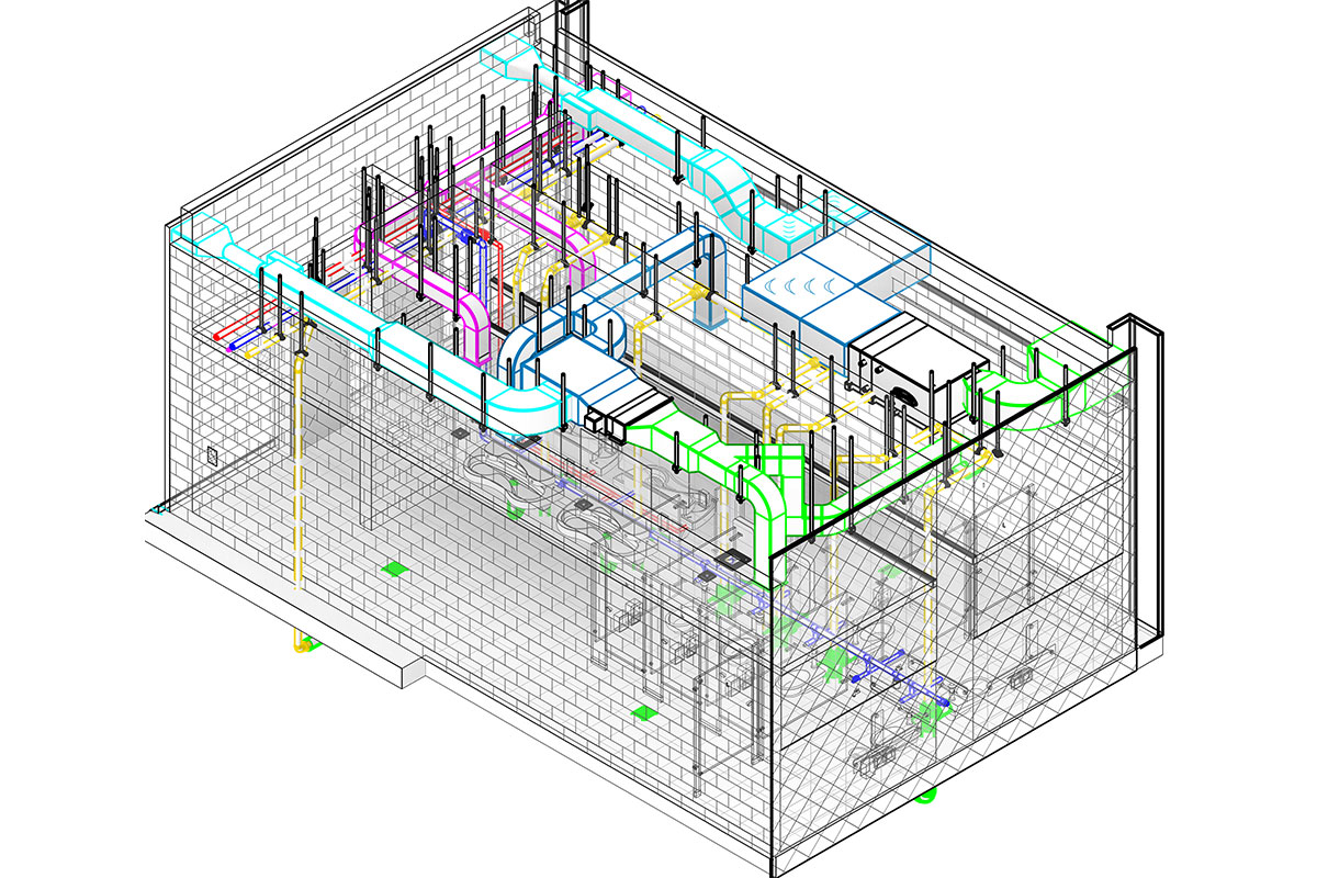 BIM LOD 400 MEP Modeling and Coordination service in-Washington-by-United-BIM