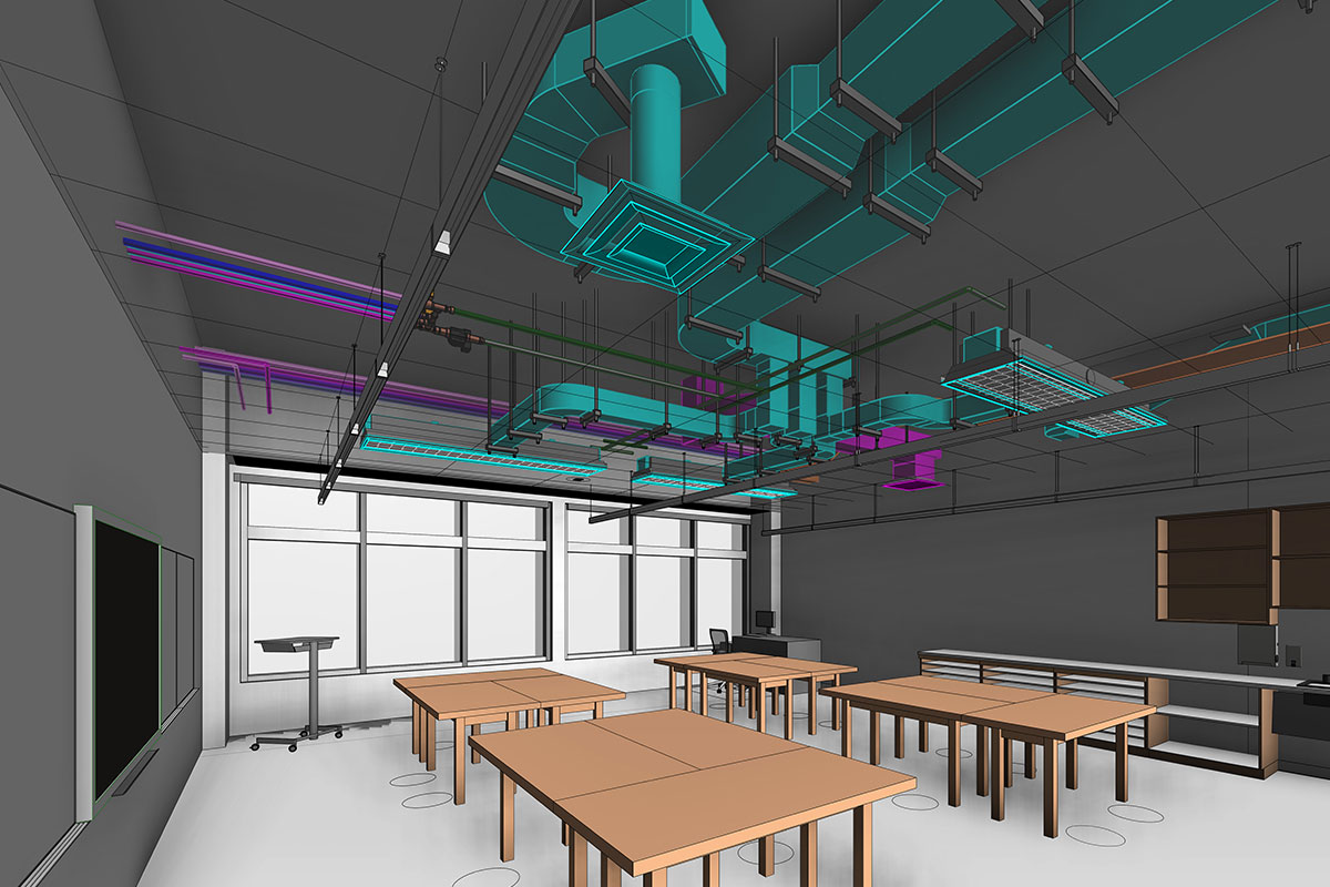 LOD 400 MEP BIM Modeling and Coordination services in Texas by United-BIM