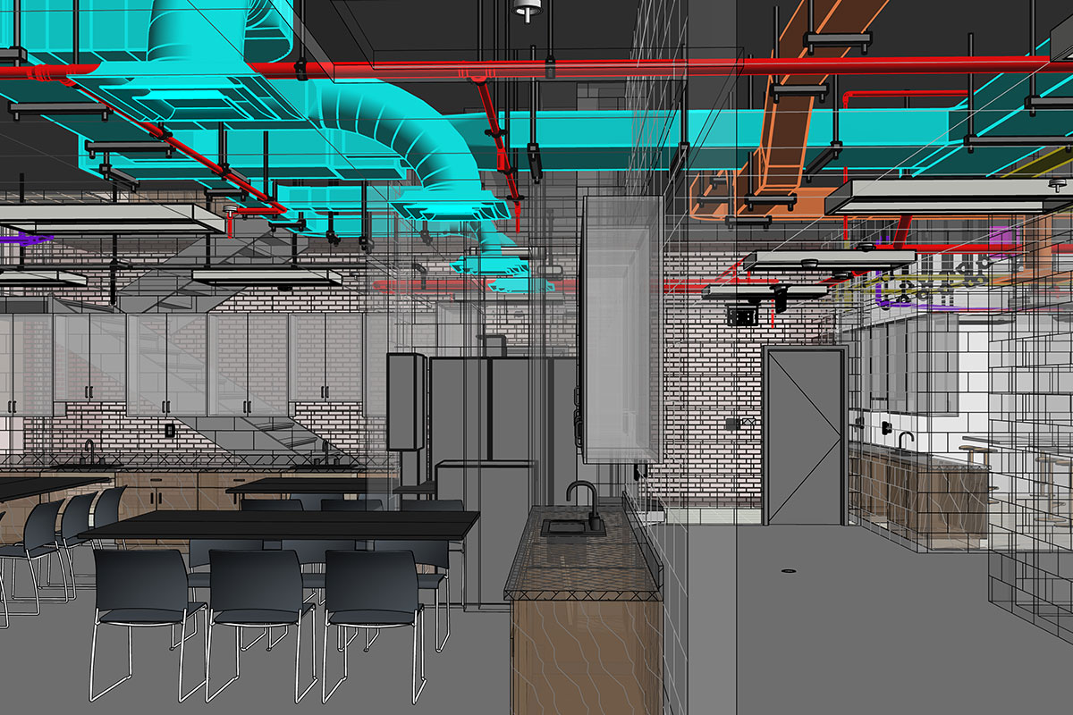 LOD 400 MEP BIM Modeling and Coordination services in Texas by United-BIM Inc.