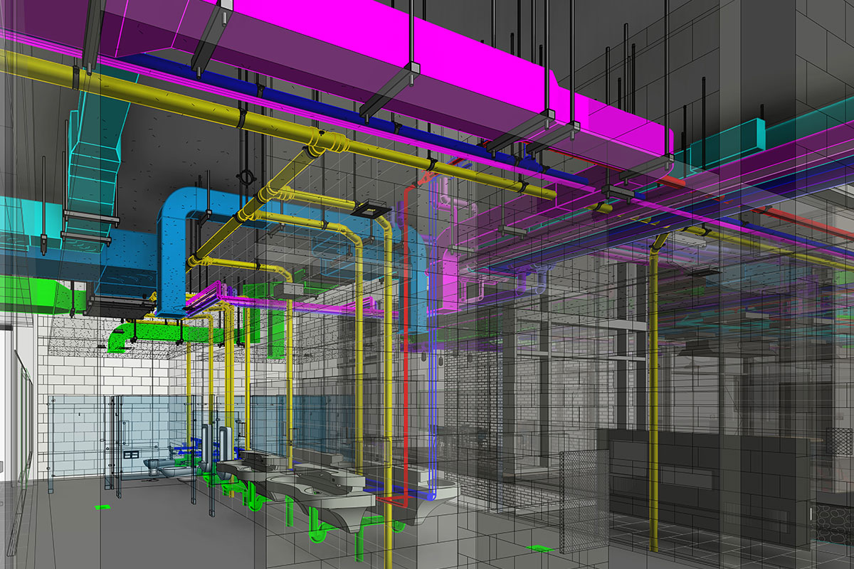 LOD 400 MEP BIM Modeling and Coordination services in-Pennsylvania-by-United-BIM
