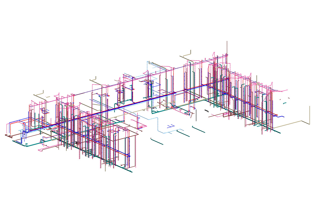 Plumbing Modeling and Coordination by United-BIM Inc.