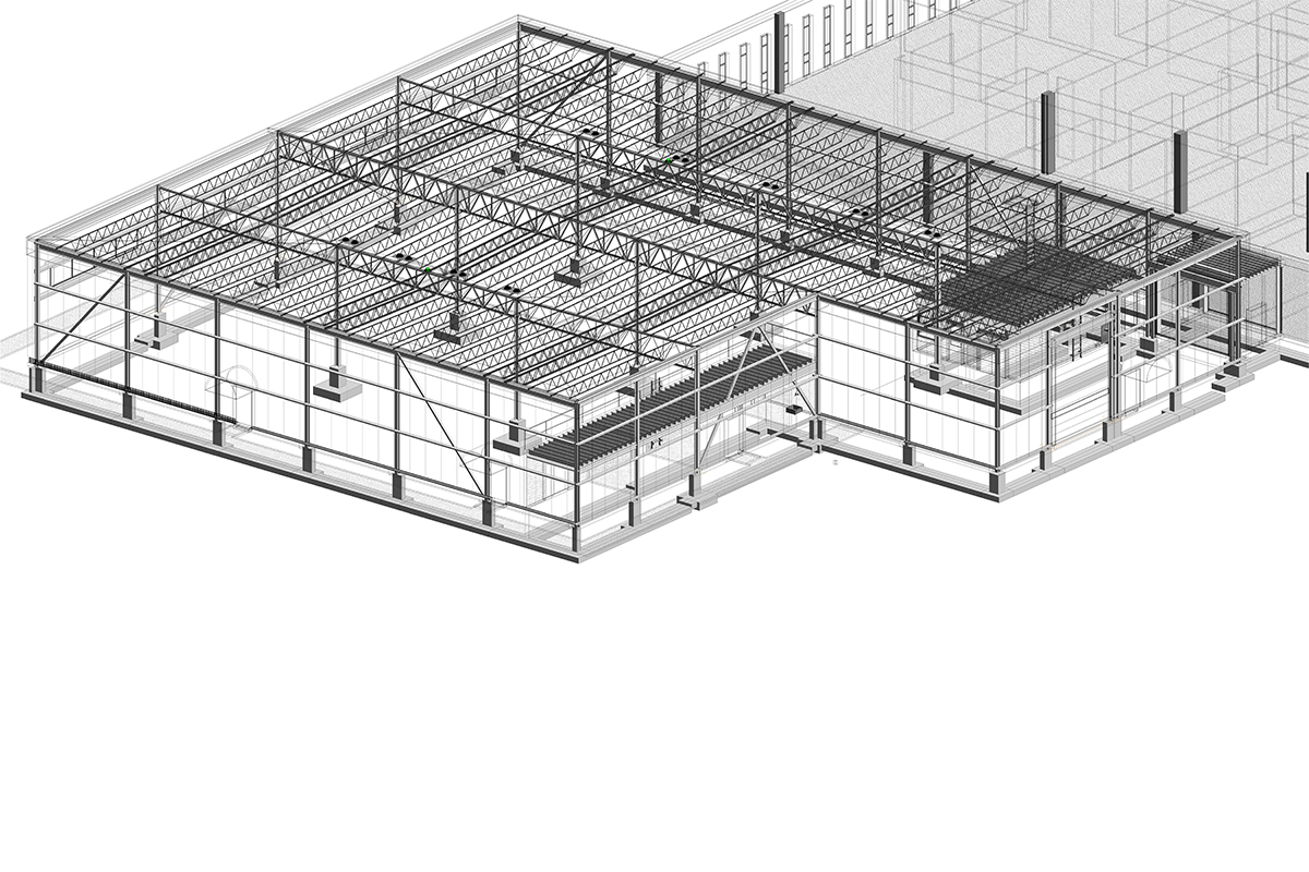 Structural BIM Modeling and Coordination Services of Manufacturing Project in Connecticut