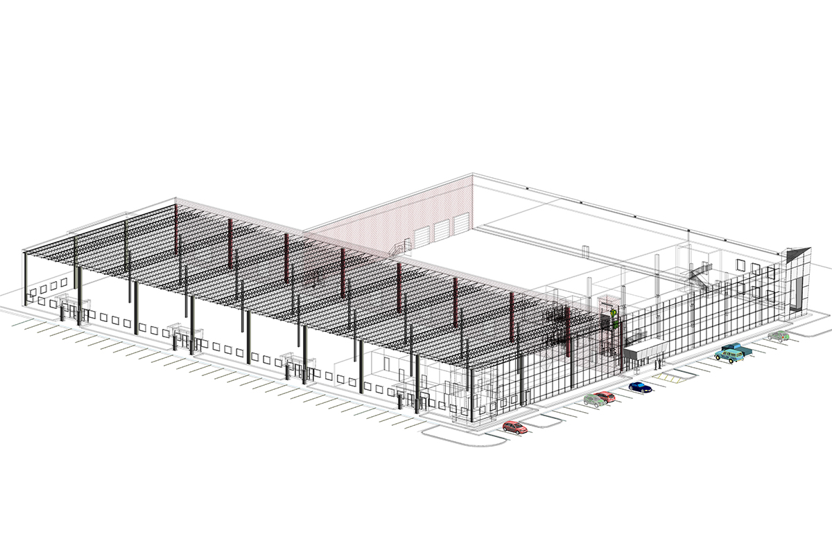 Structural BIM Services in Boston for Industrial Project