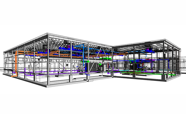 MEP BIM Service for Industrial Project In Connecticut.