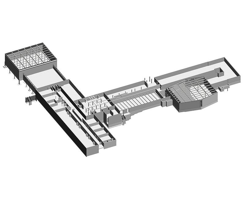Structural Precast Model Produced by United-BIM Inc