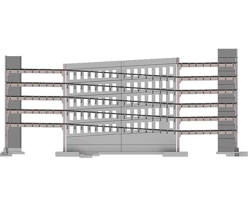 Structural Precast Modeling Services by United-BIM Inc.