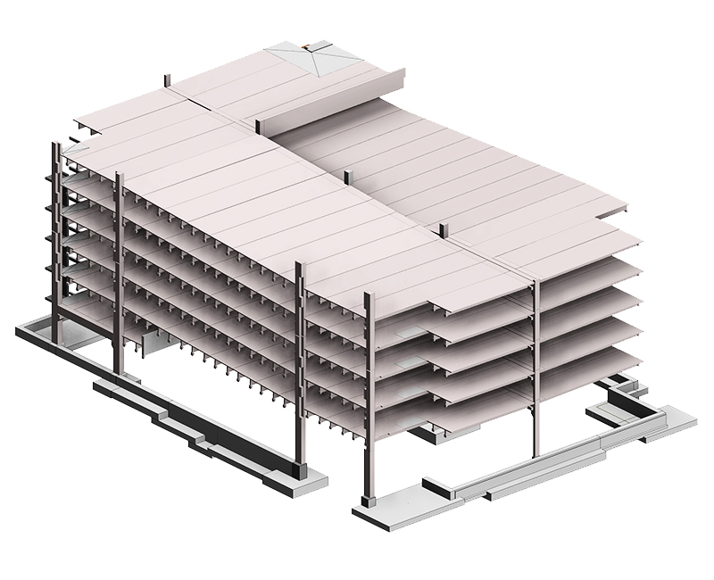 Structural Precast Modeling Services by United-BIM Inc