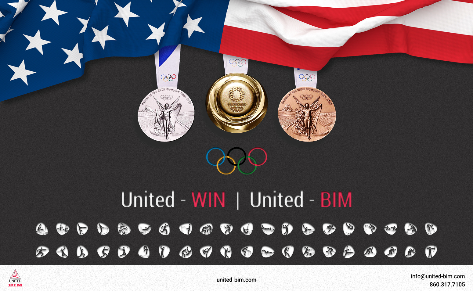 Tokyo Olympics 2021 Graphic by United-BIM