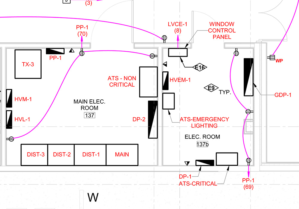 Electrical Design Services by United-BIM Inc.