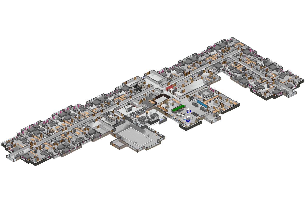 Section BIM Modeling Services in Washington DC by United-BIM