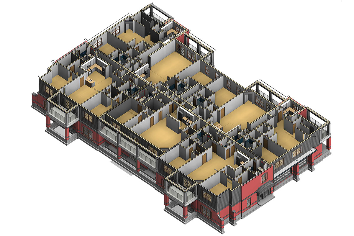 Section View BIM Architectural Modeling Services in Indiana by United-BIM