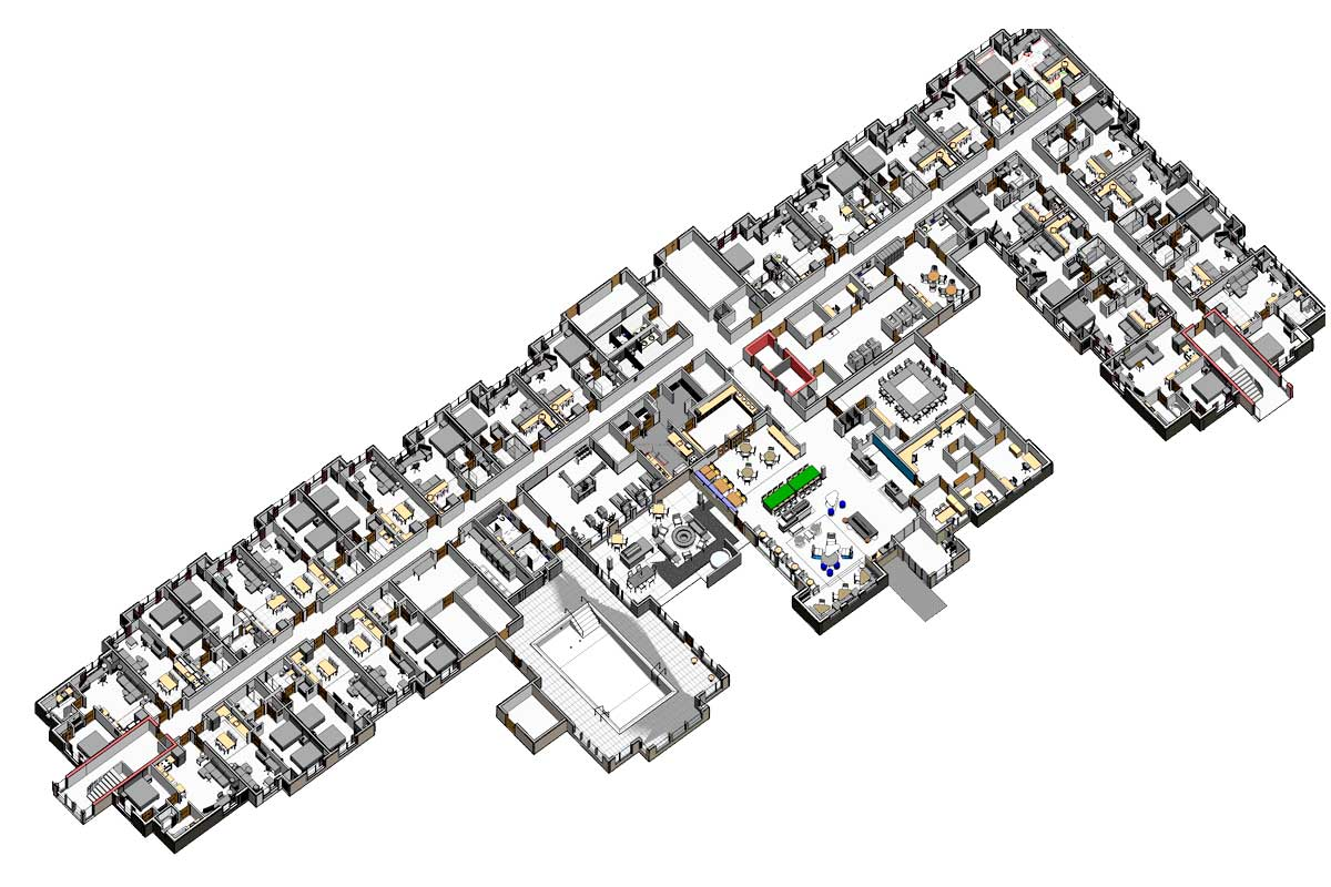 Section-View-of-Architectural-BIM-Modeling-Services-in North Carolina-by-United-BIM